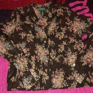Ralph Lauren floral blouse 🌹